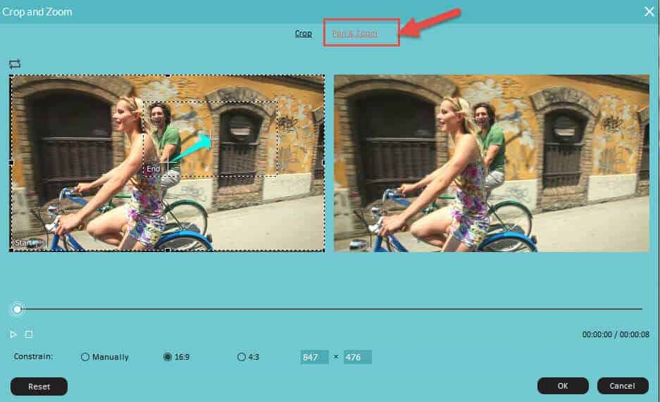 Using Wondershare Filmora to crop videos instead of PowerDirector crop video function
