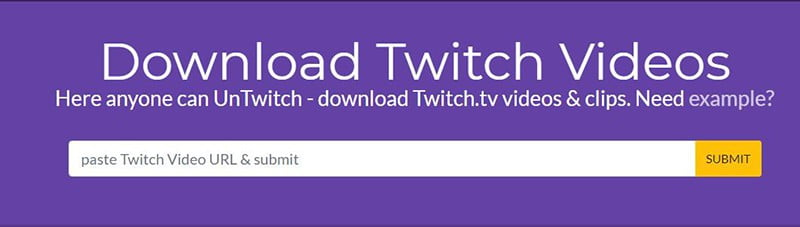 Convert Twitch to MP3 with UnTwitch.com