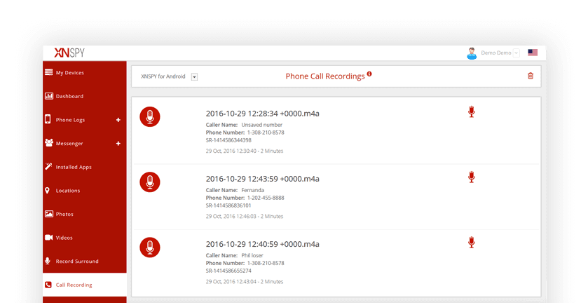 listen to cell phone calls remotely with XNSPY