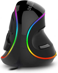 best vertical gaming mouse - Delux Ergonomic Vertical Mouse