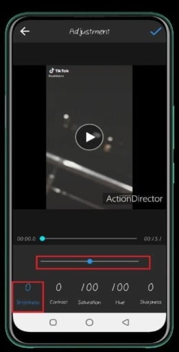 How to brighten a video on Android with Action Director
