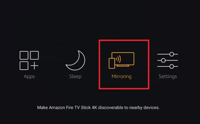 Configuring Firestick for mirroring