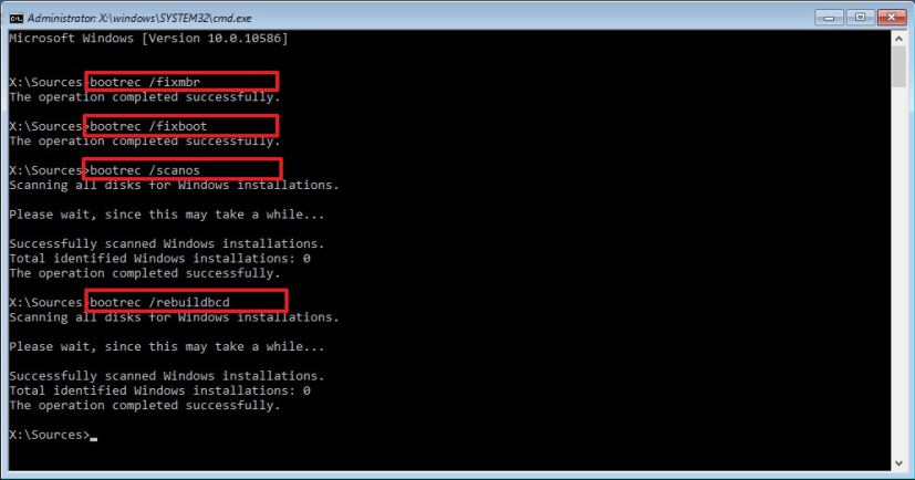 Fix your PC's Master Boot Record using the command prompt