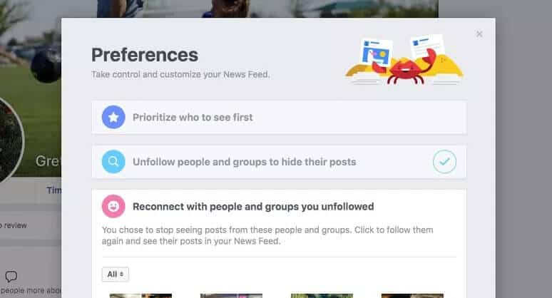 How to unfollow on Facebookthrough News Feed