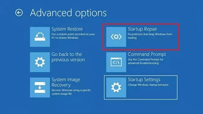 Fix recovery your PC needs to be repaired via Startup Repair on Windows