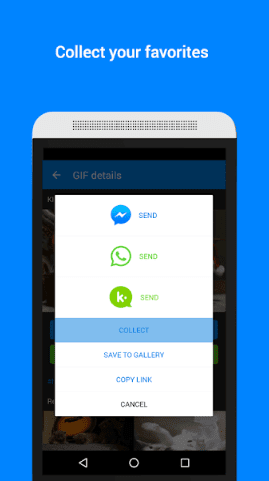 how to send gifs on Android with