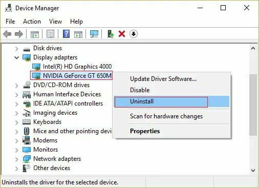 Uninstall Graphic Card Driver