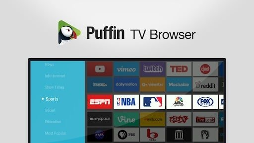 Best Web Browser For Android TV - Puffin TV Browser